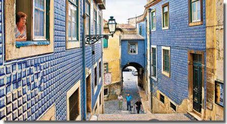le quartier d'Alfama à Lisbonne