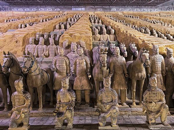Guerriers en terre cuite, Xi'an