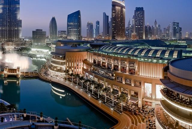 Le centre commercial de Dubaï