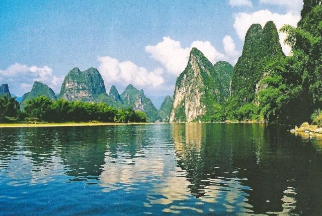 Paysage de karst de la rivière Li