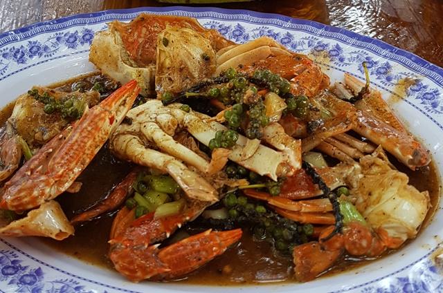 Le crabe au poivre vert de Kampot: