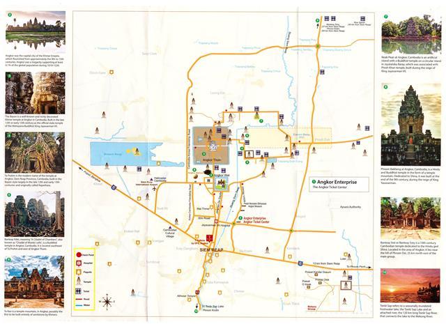 Plan du site d'Angkor: